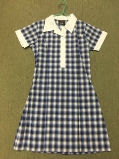 Senior girls check uniform dress